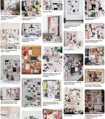 Branding boards on Pinterest