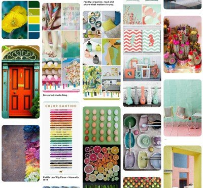 Colour boards on Pinterest