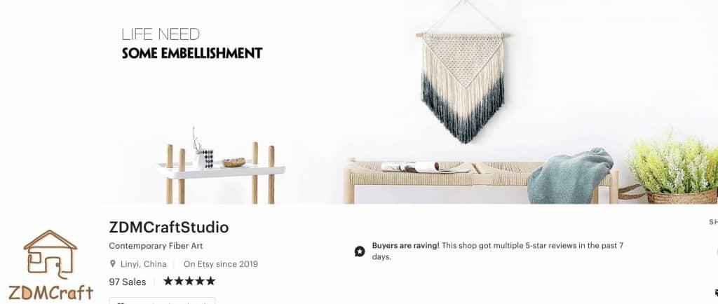 Craft studio shop header image