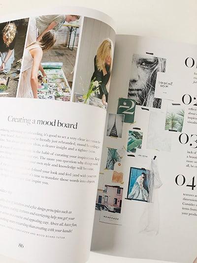 Image of inside book creating mood board