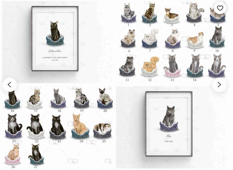 chose your cat print