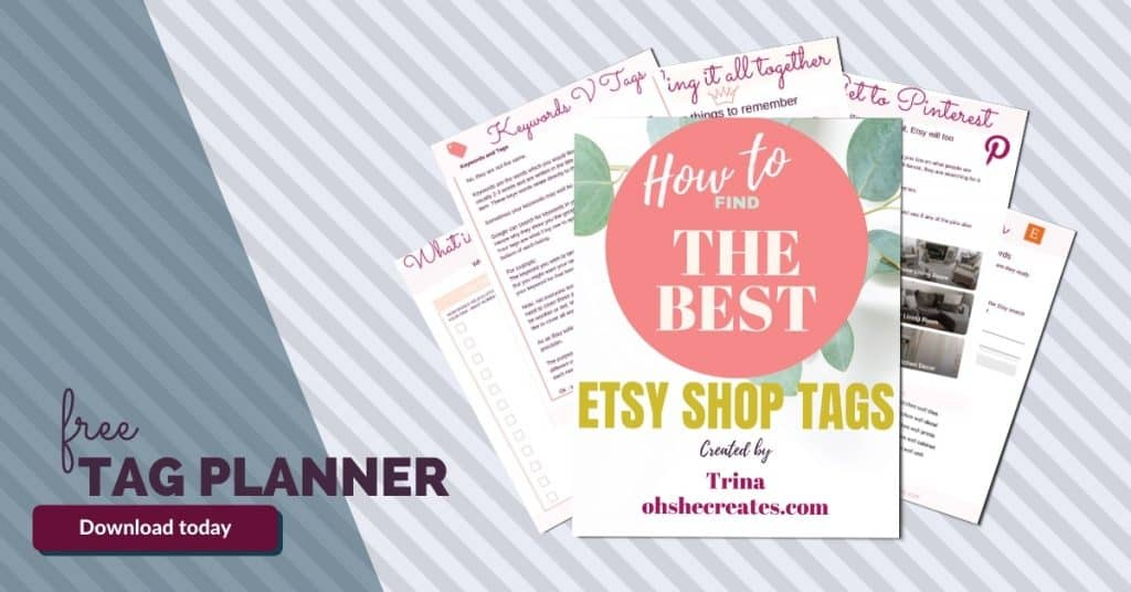 Etsy tag planner preview