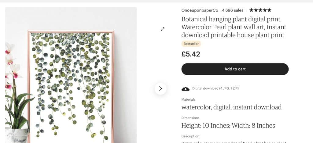 Image of best selling print on ETsy