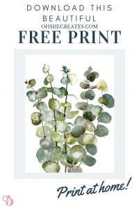 Free botanical watercolor print