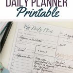 Free printable planner for daily use