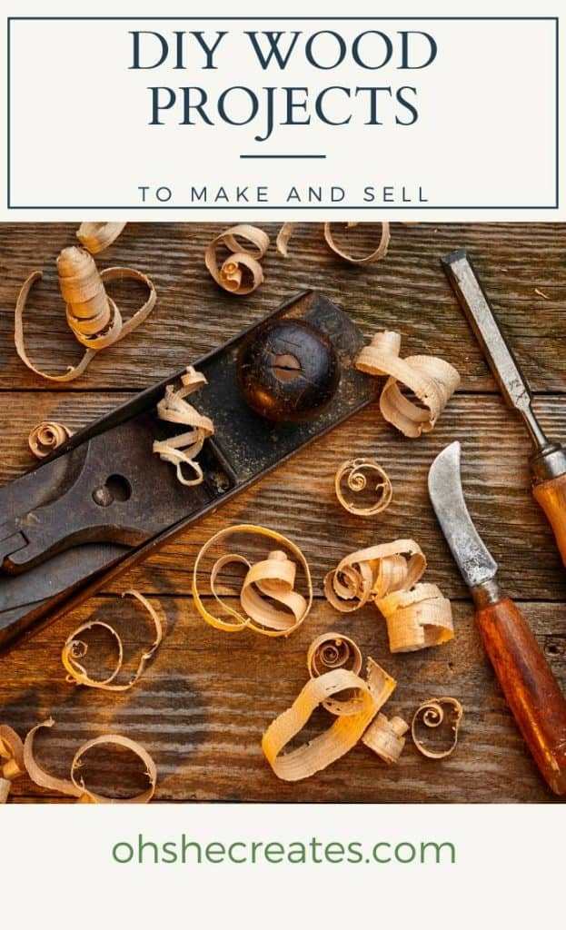 Wooden tools with text DIY wood projects