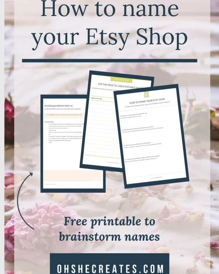 How to name your etsy shop