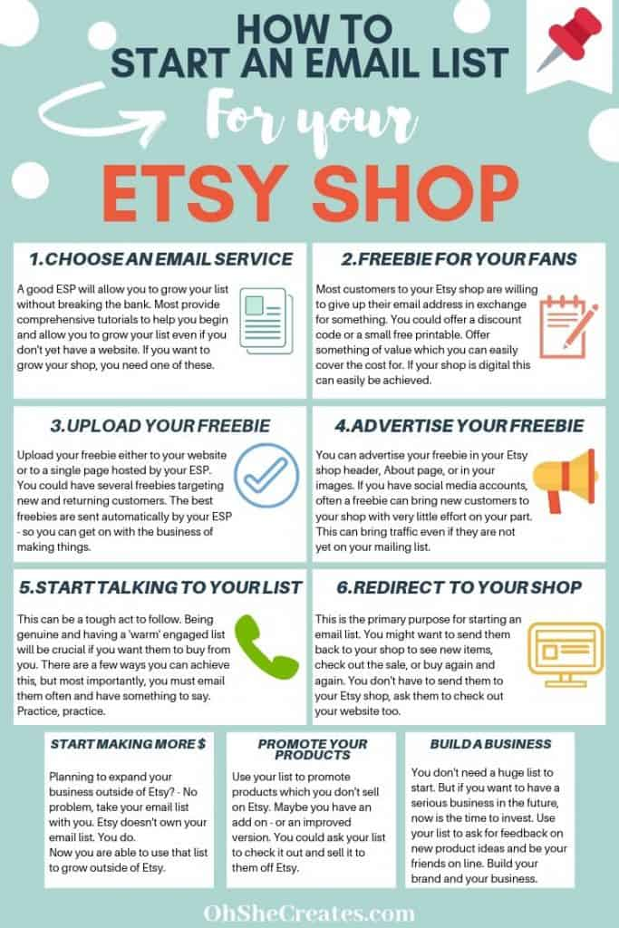 How to start an email list on Etsy