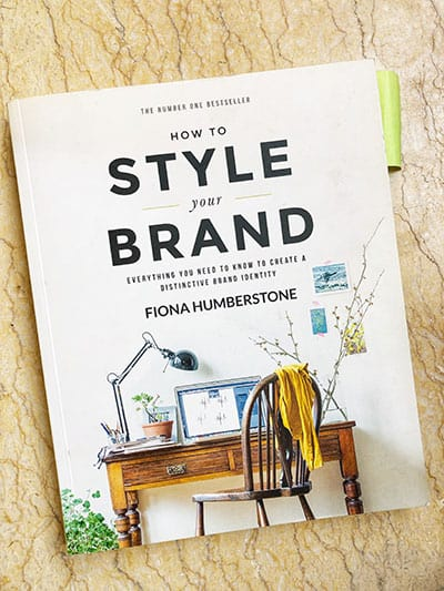 image showing book called how to style your brand.