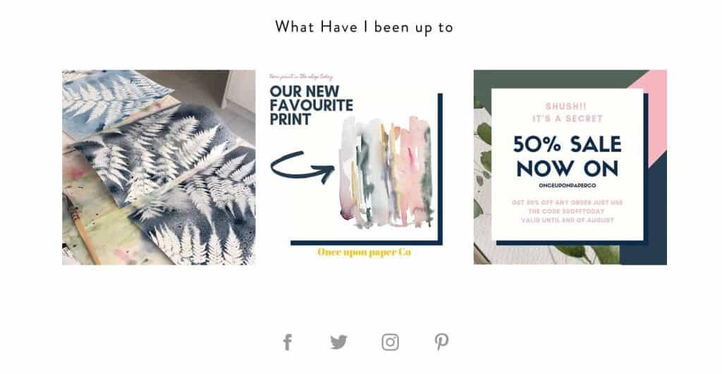 instagram for newsletter