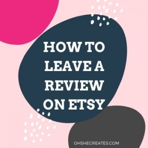 how to leave a review for an etsy shop