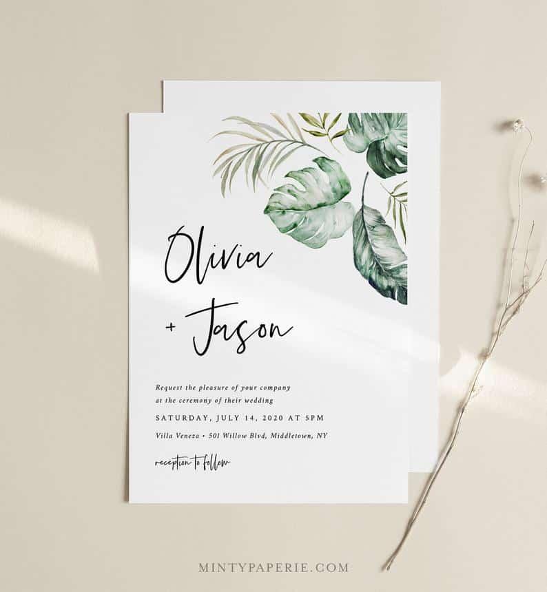 image of wedding invite