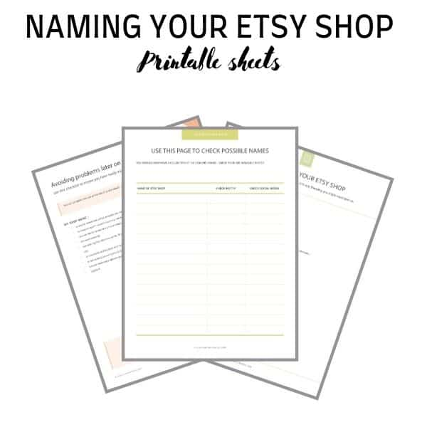 NAME YOUR ETSY SHOP PRINTABLE