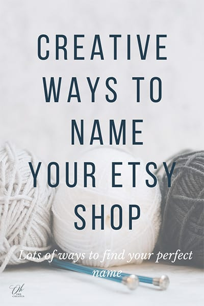 image of balls of wall with the text creative ways to name your etsy shop