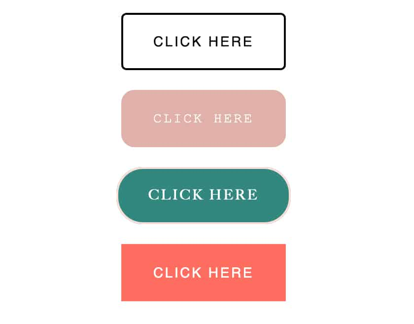 Example newsletter buttons in Flodesk
