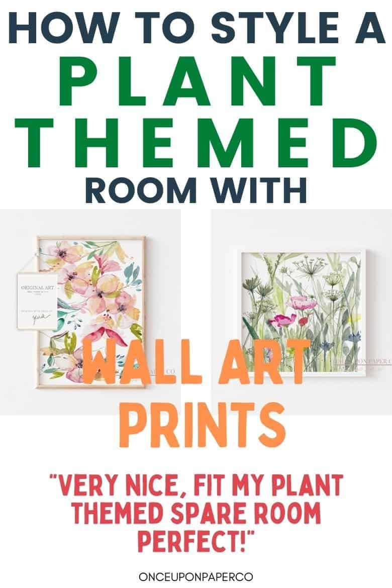 image with text - how to use prints to fit plant based room