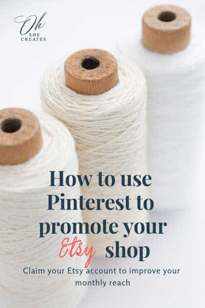 Image showing cotton reels with the text How to use pinterest to promote your etsy shop