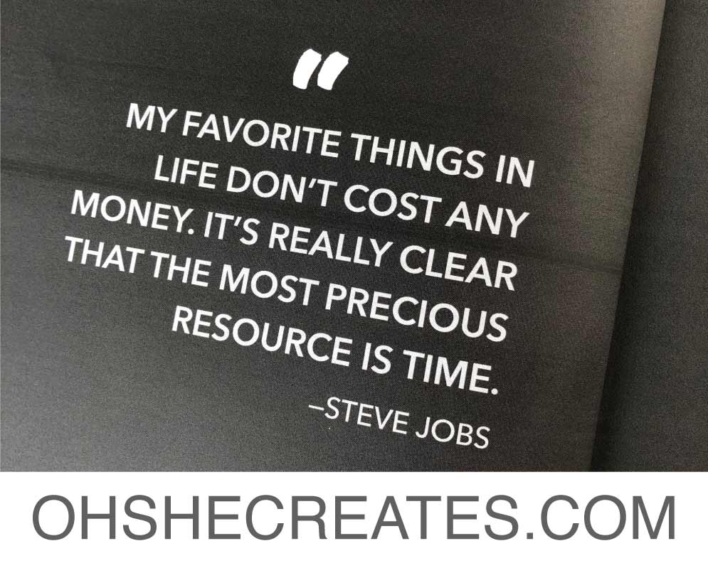 image of steve jobs quote about time.