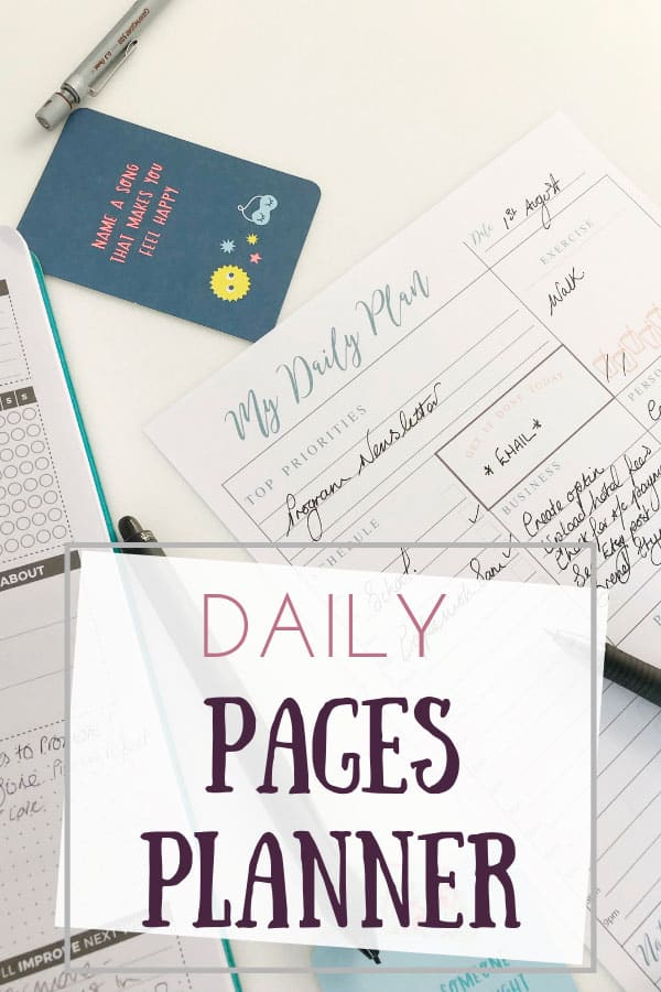 daily pages planner printable