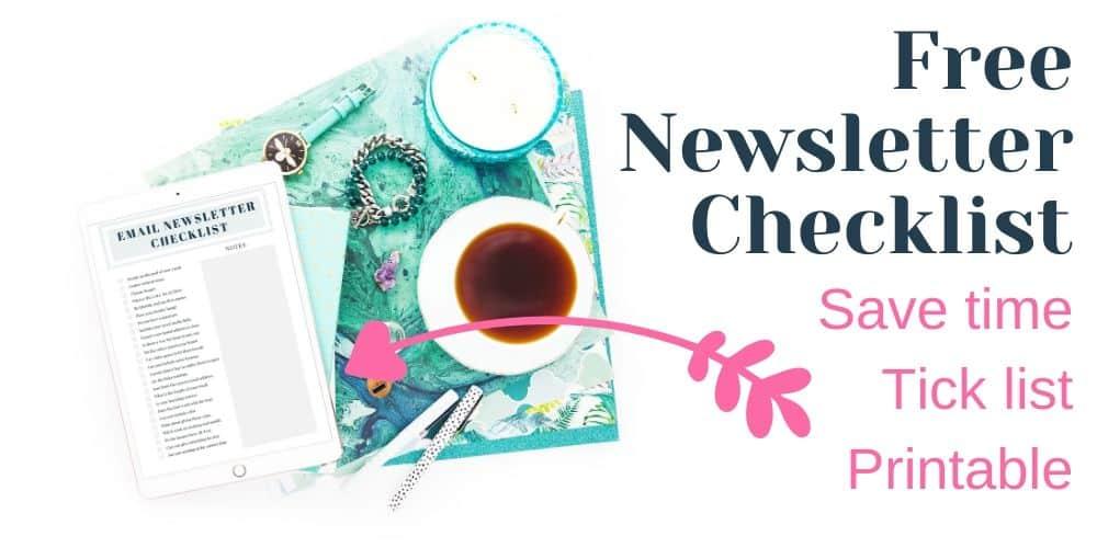 free newsletter checklist