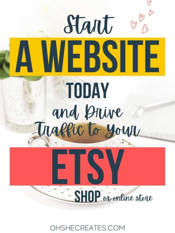 How to start a website for your Etsy shop