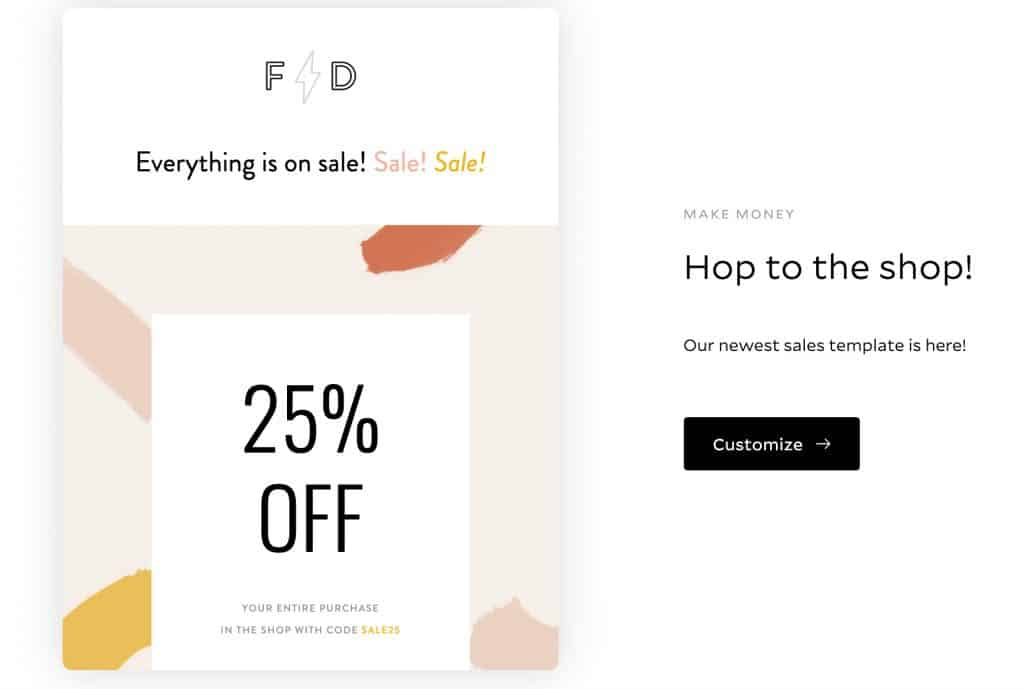 Sale newsletter template