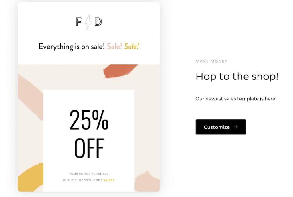 Sale newsletter template