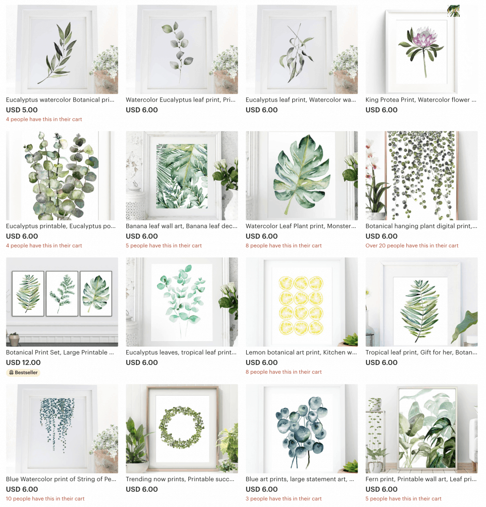 Once upon paper co Etsy shop overview