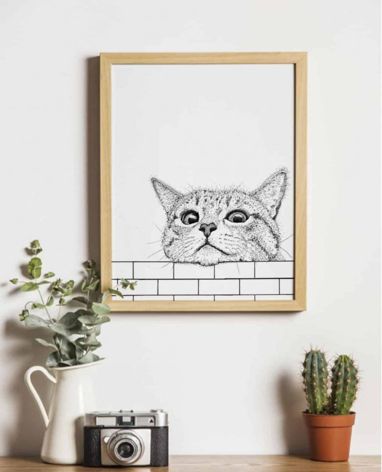 image of cat detailed cat print