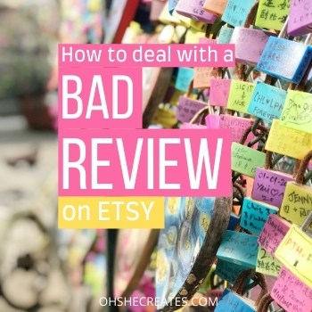 How to deal with a bad review on Etsy