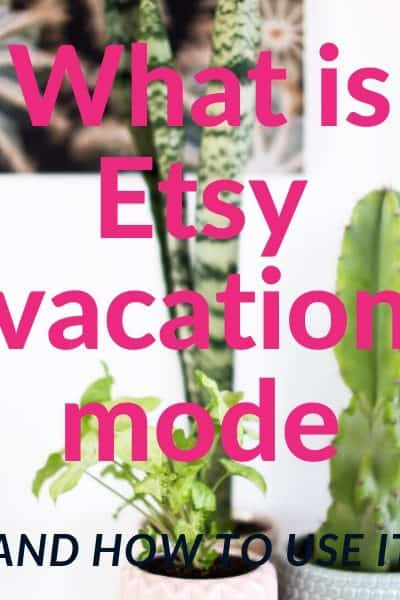 Image of cactus with text what is etsy vacation mode