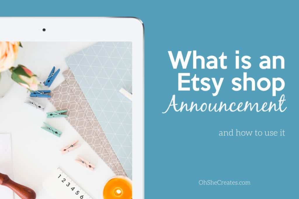 image with text what is an etsy shop announcement with iphone image