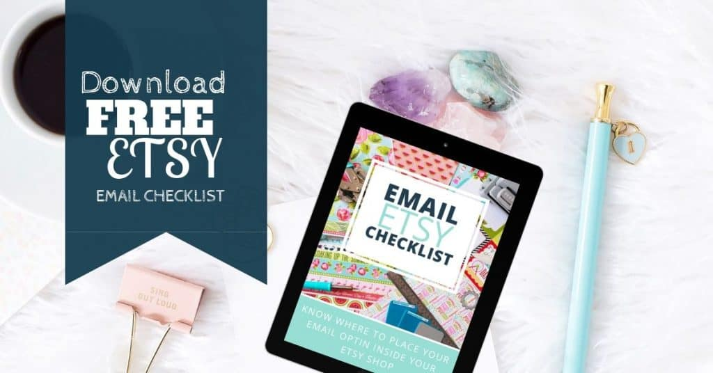 image with ipad mockup and the words download free etsy checklist