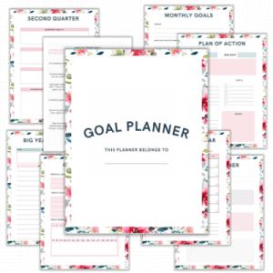 goal planner printable