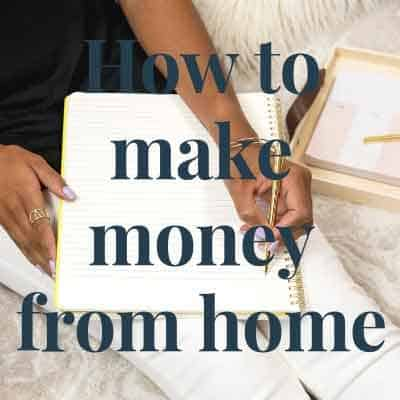 Sell on Etsy to make money from home.