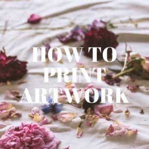 How to print artwork image with flowers
