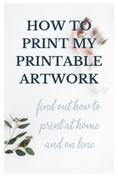 Printing your printable art