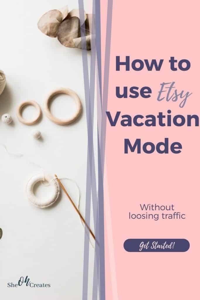 Image with text how to use vacation mode
