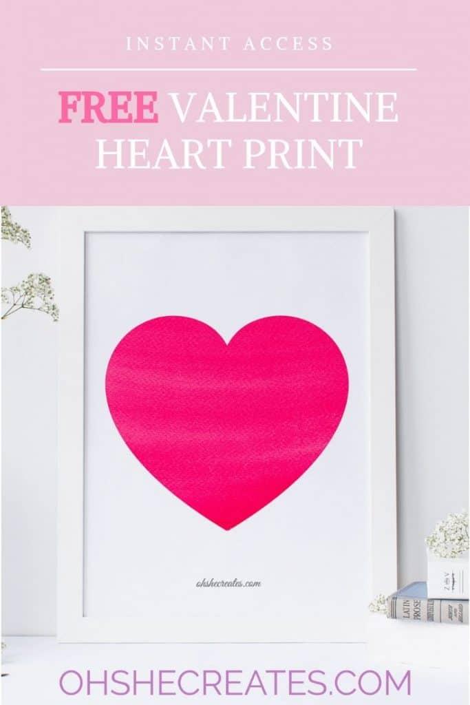 free valentine heart print
