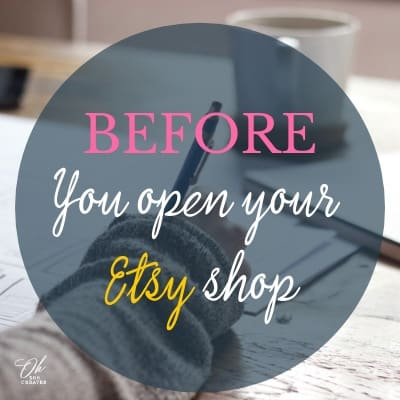 Before you open an Etsy shop, write it down.