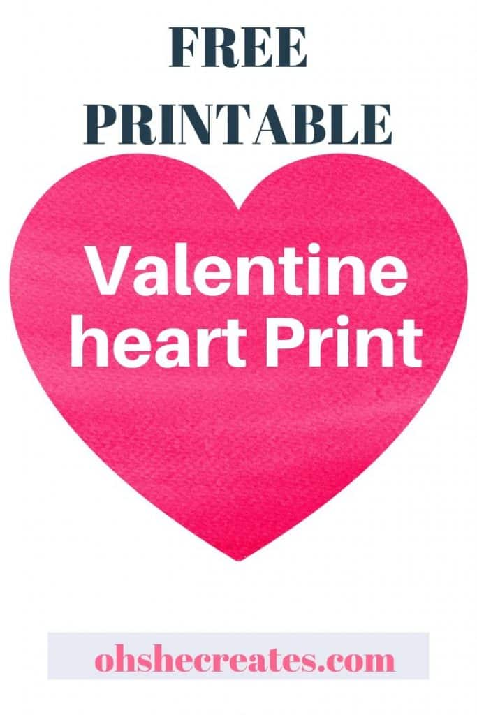 Valentine heart print free printable