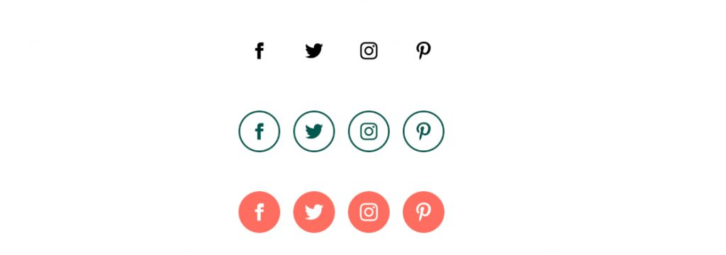 social media icons for template newsletter