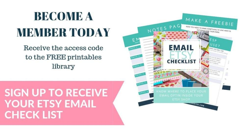 image with text become a member today sign up etsy email checklist