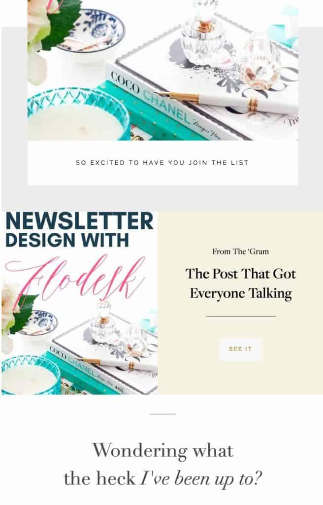 newsletter design with flodesk